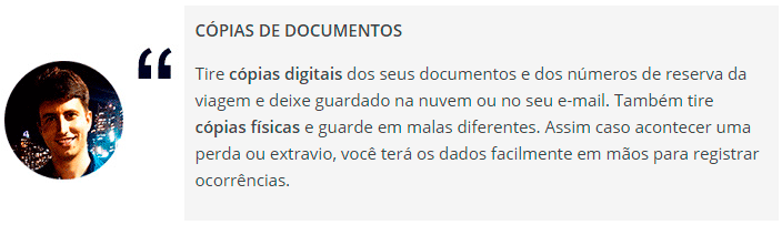 Cópias de documentos