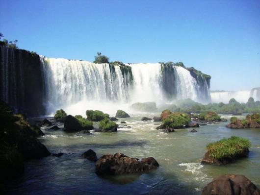 As cataratas de Foz do Iguaçu ficam ainda mais cheias