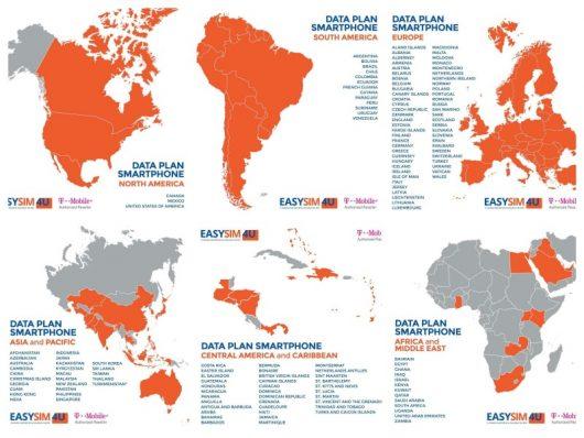Lista de países atendidos pela EasySim4U