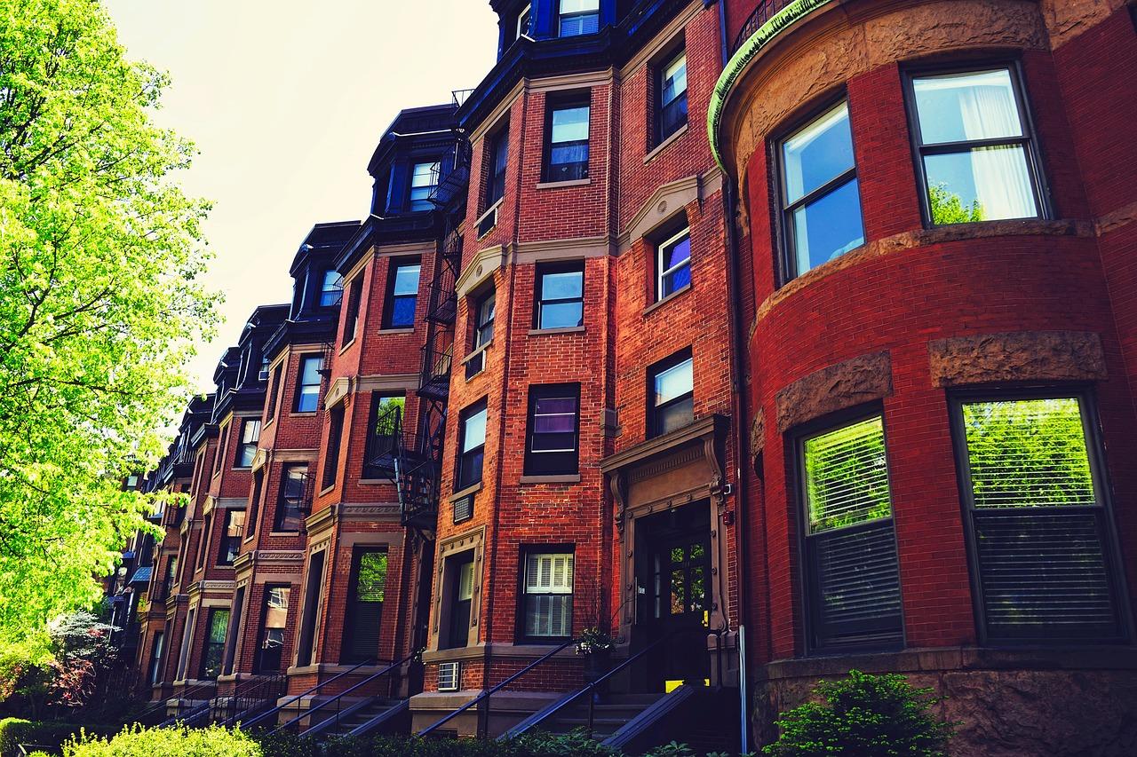 Arquitetura de prédio em Boston